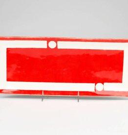 Nancy Kolodny Red Chain, Narrow Small Rectangle