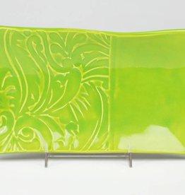 Lynn Wood Large Green Rectangular Tray