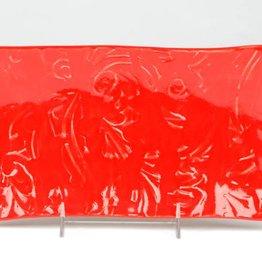 Lynn Wood Large Red Rectangular Tray