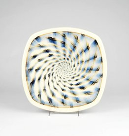 Sean O'Connell Square Plate, Spiral Pattern