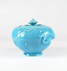 John W. Hopkins Blue Celadon Covered Jar