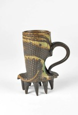 Stephen L. Horn Marbled Clay Mug with Spikey Bottom Accents