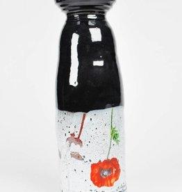 Justin Rothshank Large Black Poppy Vase