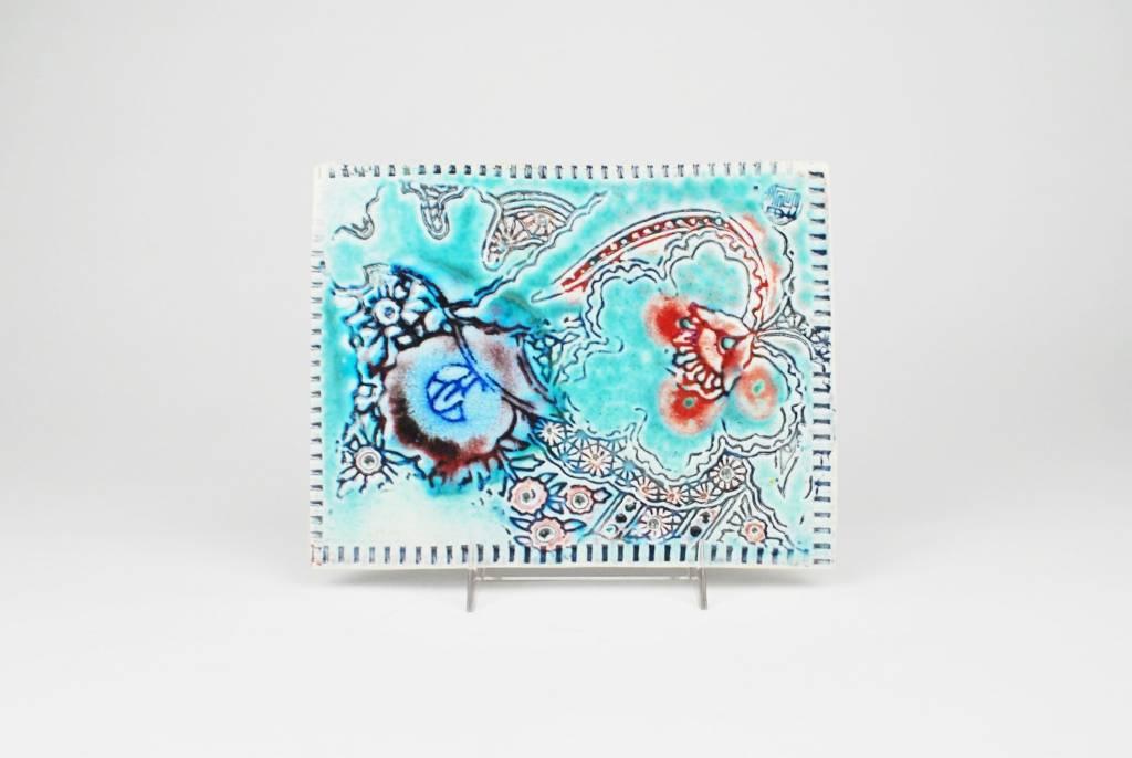 Julie Bagish Flower Tile