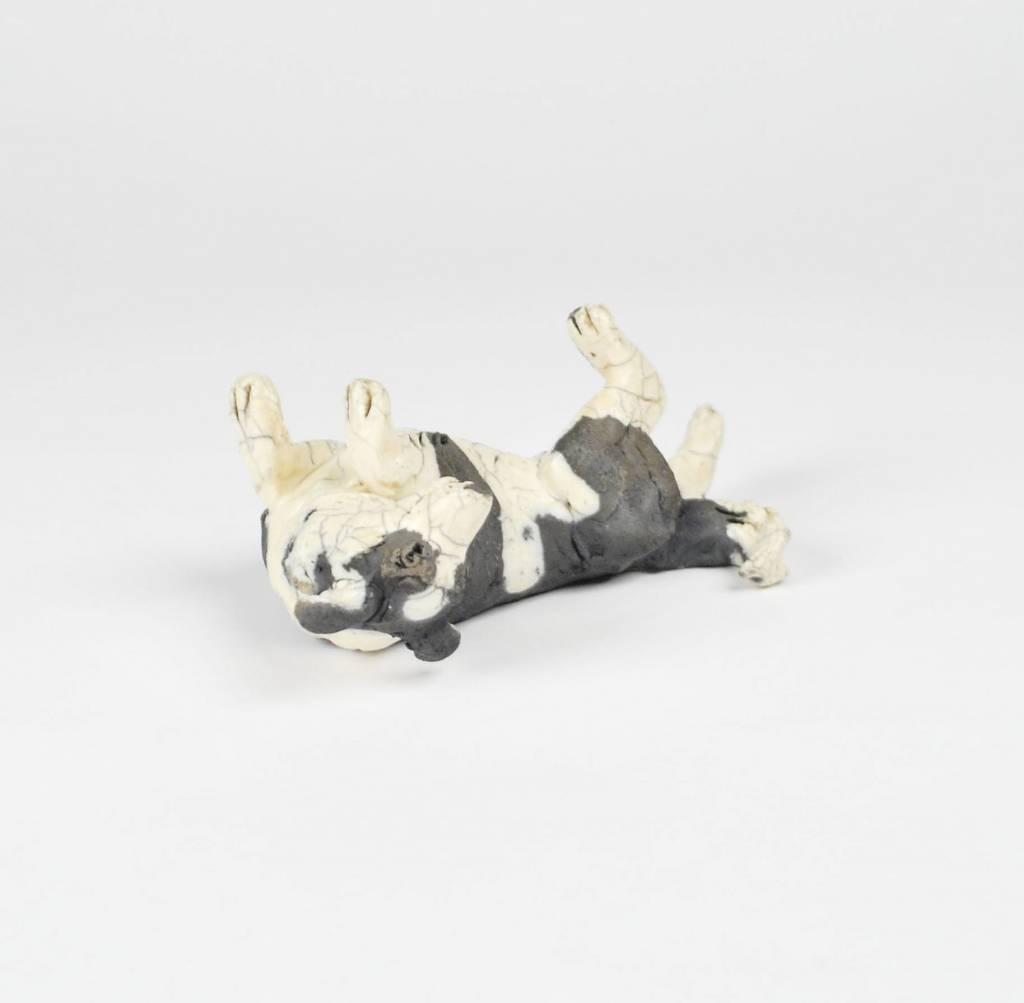Nina Ward Black & White Dog on Her Back