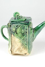B. Anahita King Teapot, Garden Whimsy & Green, Turq Crackle with Patina
