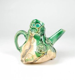 B. Anahita King Teapot, Green Mini with Leaves