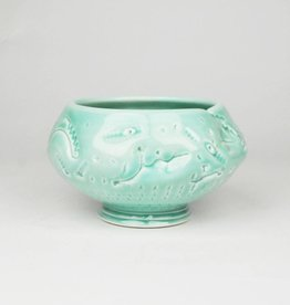 John W. Hopkins Green Celadon Bowl