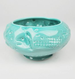John W. Hopkins Green Porcelain Bowl