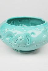 John W. Hopkins Green Porcelain Bowl