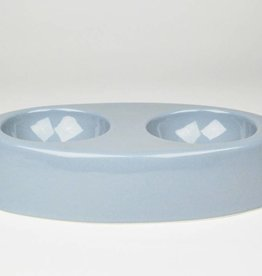 Ceramics Gainey Cat Bowl, Light Blue