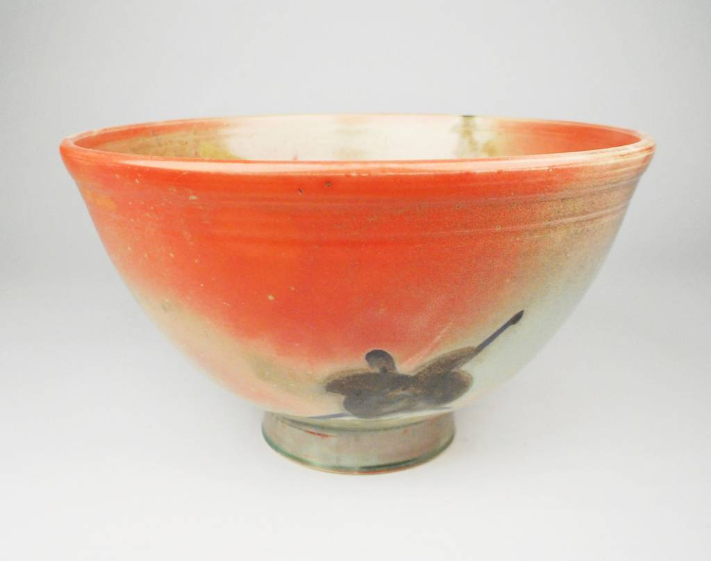 Vincent Suez Large Red Footed Bowl