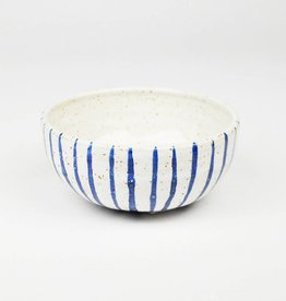 Natan Moss Blue Stripe Bowls