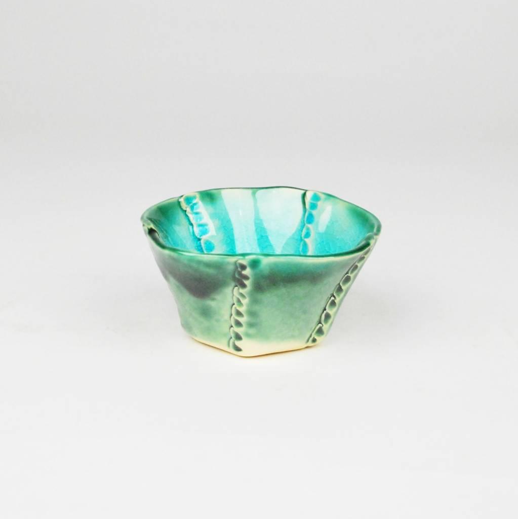 B. Anahita King Bowl, Turquoise Crackle & Green- Medium