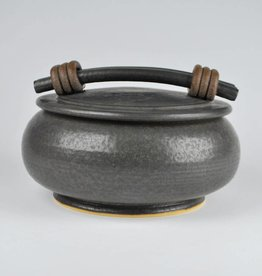Jan Schachter Black Ash Casserole with Lid