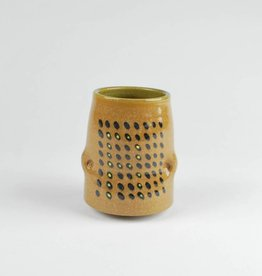 Daniel Siegel Stoneware Cup with Yellow