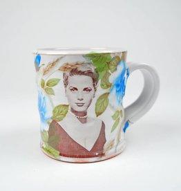 Justin Rothshank Floral Face Mug- Grace Kelly