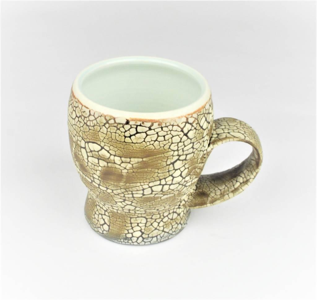 Pierre Bounaud White Crackle Blue Mug