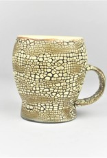 Pierre Bounaud White Crackle Yellow Mug