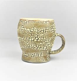 Pierre Bounaud White Crackle Yellow Mug