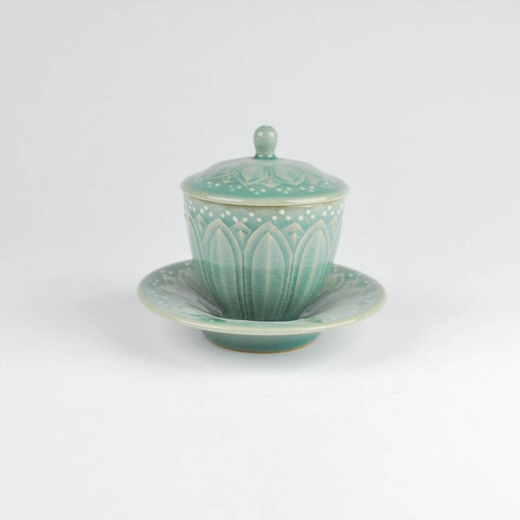 Choi In-Gyu Celadon Cup  with Lid