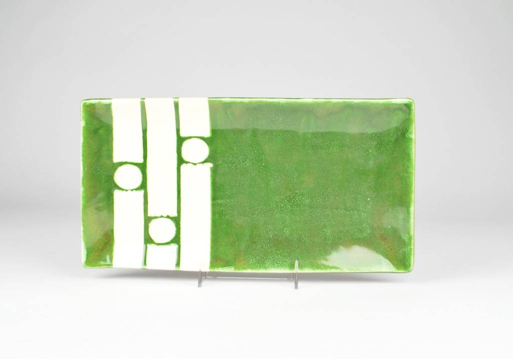 Nancy Kolodny Green Chain, Small Rectangle