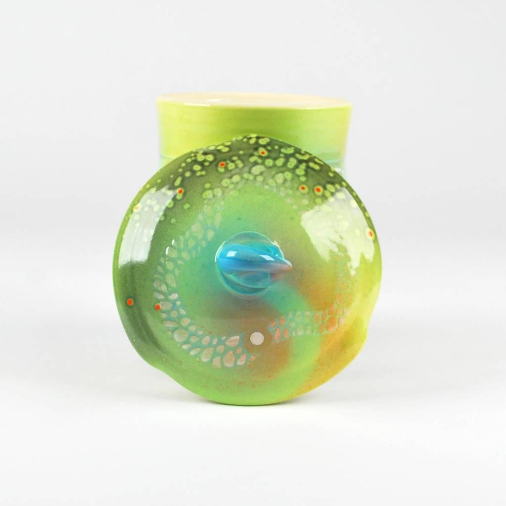 Adrian Sandstrom Green & Blue Jar
