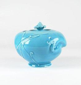 John W. Hopkins Blue Celadon Covered Jar