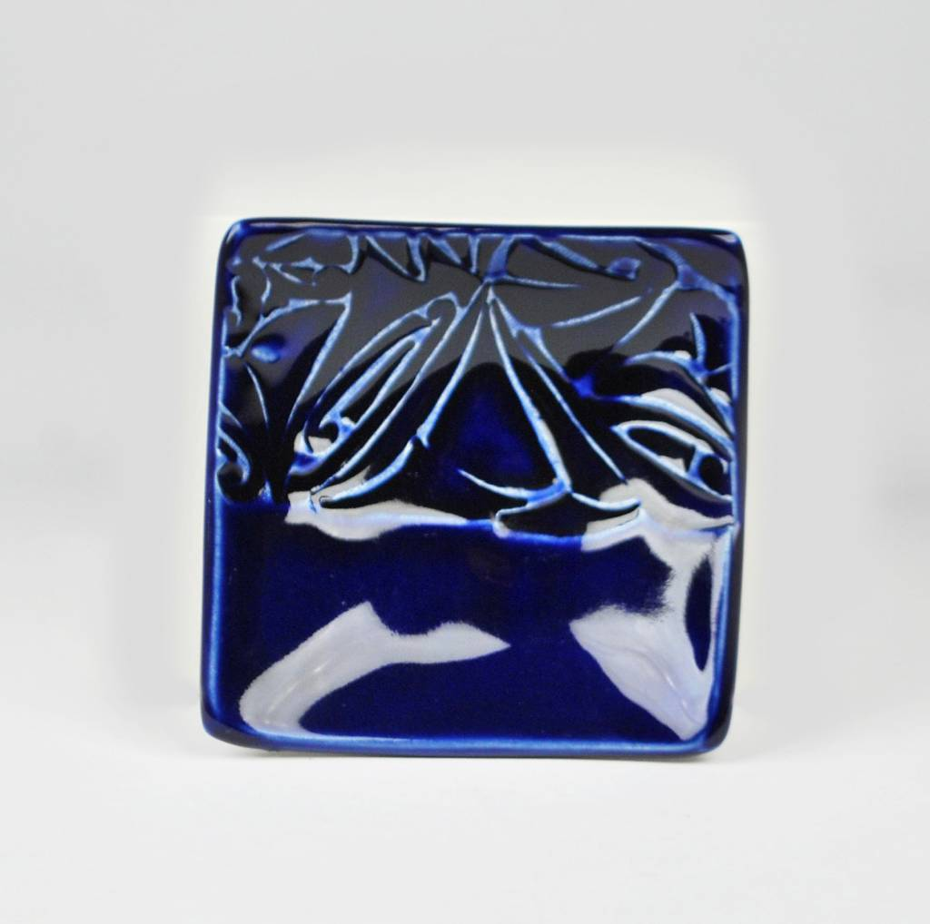 Lynn Wood Small Blue Square Ash Tray