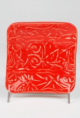 Lynn Wood Medium Red Square Ash Tray