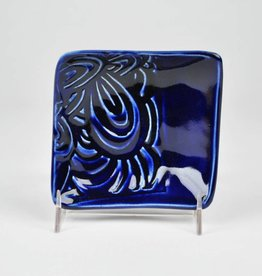 Lynn Wood Medium Blue Square Ash Tray
