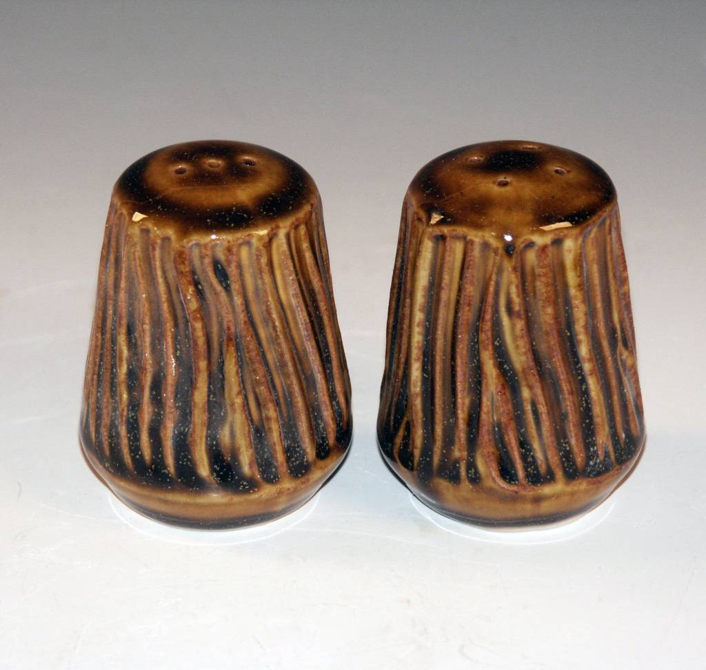 Ben Rigney Ben Rigney - Small Round Tenmoku Salt & Pepper Shakers