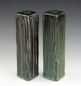 Ben Rigney Ben Rigney - Tall Rectangle Green Salt & Pepper Shakers
