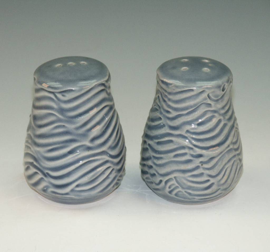 Ben Rigney Ben Rigney - Small Round Blue Salt & Pepper Shakers