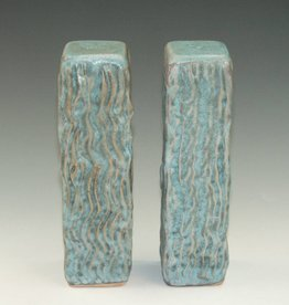 Ben Rigney Ben Rigney - Tall Rectangle Turquoise Salt & Pepper Shakers