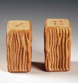 Ben Rigney Ben Rigney - Medium Rectangle Yellow Salt & Pepper Shakers with Lines