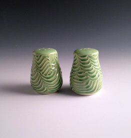 Ben Rigney Ben Rigney - Small Round Green Salt & Pepper Shakers