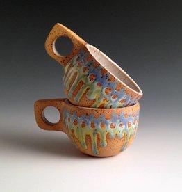 Alex Corrin Alex Corrin - Set of Blue & Green Cappuccino Mugs