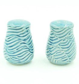 Ben Rigney Ben Rigney - Small Round Blue Salt & Pepper Shakers