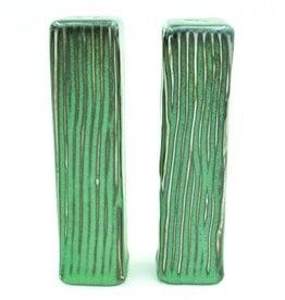 Ben Rigney Ben Rigney - Tall Rectangle Green Salt & Pepper Shakers
