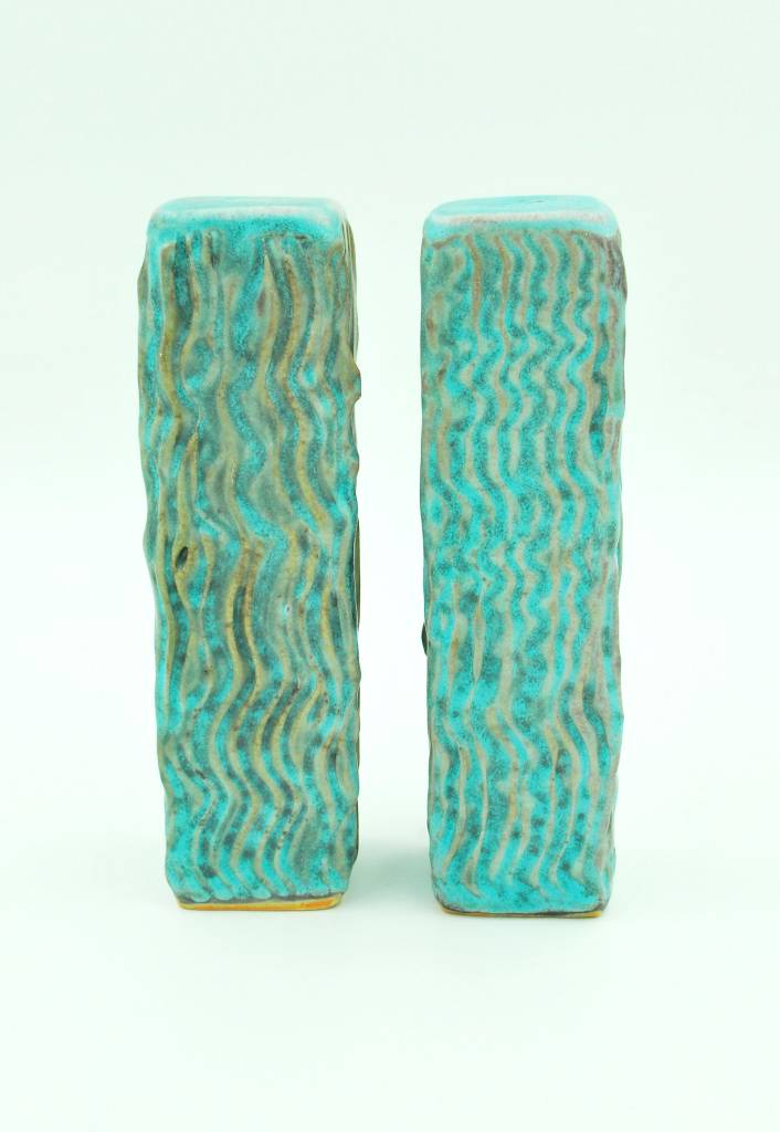 Ben Rigney Ben Rigney - Tall Rectangle Turquoise Salt & Pepper Shakers