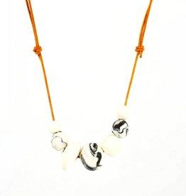 Alyson Iwamoto Black & White Stone Necklace