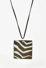 Heather C. Morrow Blue Strip & Black Mountain Pendant