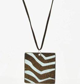 Heather C. Morrow Blue Strip & Black Mountain Pendant