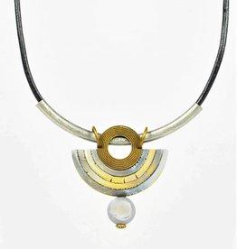 Eva Andre Design Gray Arch Semcircle Gemstone Necklace
