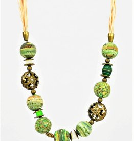 Eva Andre Design Green Mix Bead Necklace