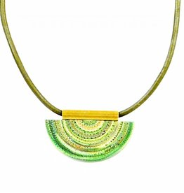 Eva Andre Design Green Semicircle Short Necklace