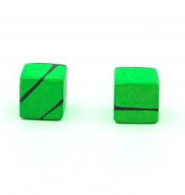 Hue+Wood Jewelry Green Wood Stud Earrings
