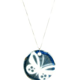 Heather C. Morrow Round Butterfly Pendant