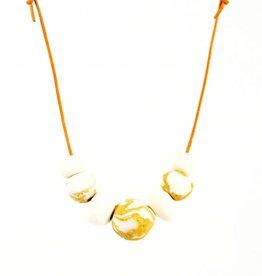 Alyson Iwamoto White & Sand Stone Necklace